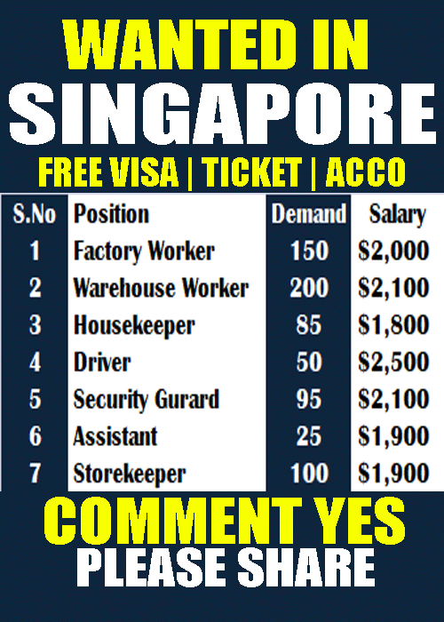 New Hiring Jobs In Singapore