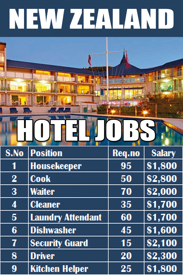 Hotel Jobs In New Zealand